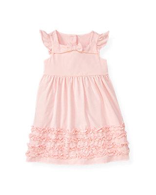 Pale Pink Ruffle Knit Dress at JanieandJack