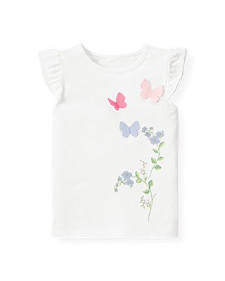 Pure White Butterfly Top at JanieandJack