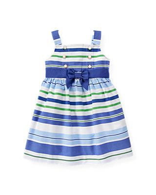 Bright Blue Stripe Stripe Dress at JanieandJack