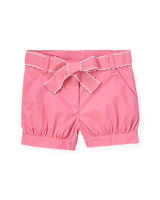Candy Pink Belted Cuffed Short at JanieandJack