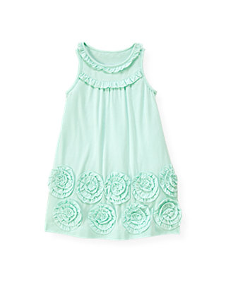 Blue Glass Rosette Knit Dress at JanieandJack