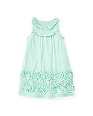 Blue Glass Rosette Knit Dress at JanieandJack