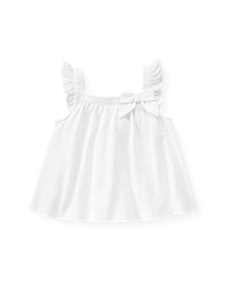 Pure White Flutter Tank at JanieandJack