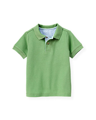 Boys Frog Green Polo Shirt at JanieandJack