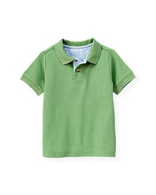 Boys Frog Green Polo Shirt at JanieandJack