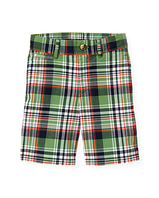 Boys Frog Green Plaid Plaid Short at JanieandJack