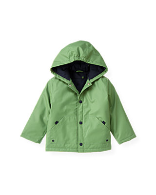Frog Green Hooded Rain Coat at JanieandJack