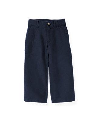 Boys Classic Navy Linen Blend Pant at JanieandJack