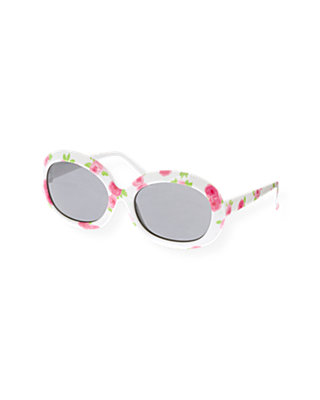 Bright Pink Rose Rose Floral Sunglasses at JanieandJack