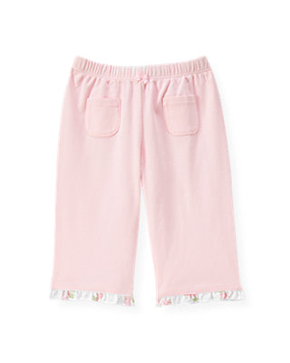 Baby Girl Barely Pink Floral Ruffle Knit Pant at JanieandJack