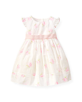 Baby Girl Jet Ivory Rose Floral Dress at JanieandJack