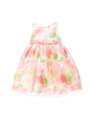 Spring Floral Floral Organza Silk Dress at JanieandJack