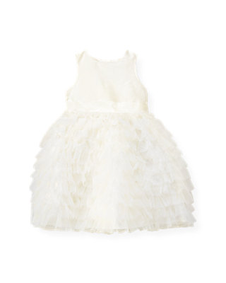 Jet Ivory Tulle Ruffle Silk Dress at JanieandJack