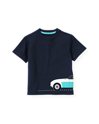 Boys Classic Navy Convertible Car Tee at JanieandJack