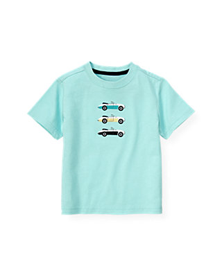 Boys Aqua Convertible Cars Tee at JanieandJack