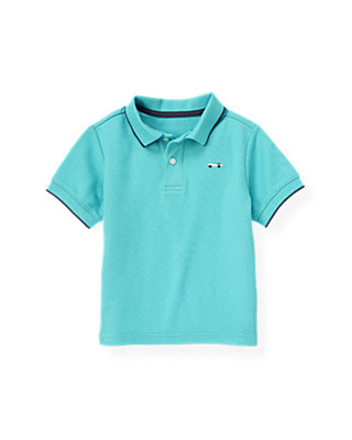 Boys Teal Polo Shirt at JanieandJack