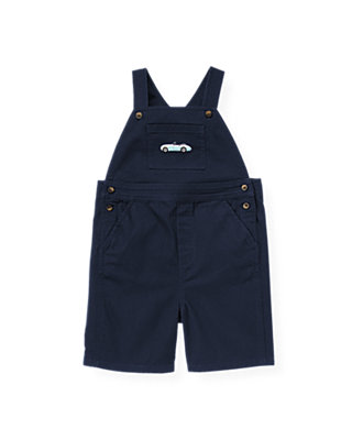 Boys Classic Navy Convertible Car Shortall at JanieandJack