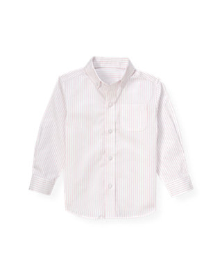Pink Stripe Dobby Stripe Dress Shirt at JanieandJack