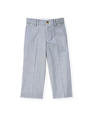 Boys Steel Blue Stripe Stripe Suit Trouser at JanieandJack