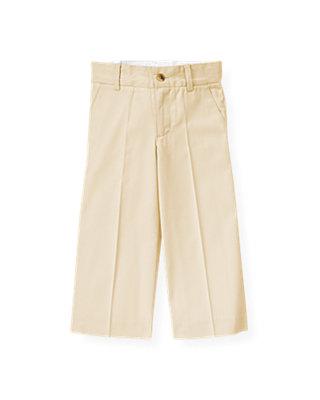 Boys Classic Khaki Twill Suit Trouser at JanieandJack