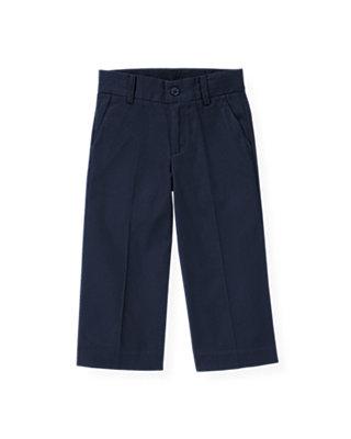 Boys Classic Navy Twill Suit Trouser at JanieandJack