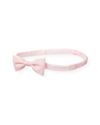 Barely Pink Bow Headband at JanieandJack