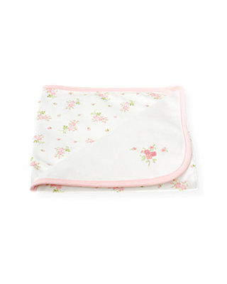 Pure White Blossom Blanket at JanieandJack