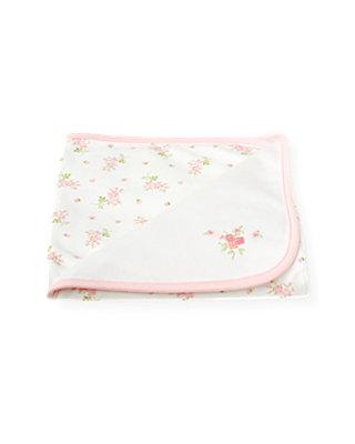 Pure White Blossom Blanket at JanieandJack