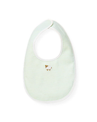 Pale Green Stripe Sheep Stripe Bib at JanieandJack