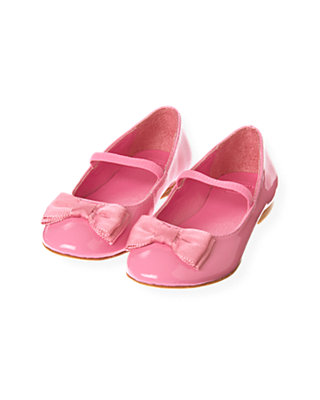 Butterfly Pink Grosgrain Ribbon Patent Leather Shoe at JanieandJack