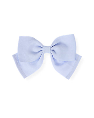 Purple Linen Grosgrain Ribbon Bow Barrette at JanieandJack