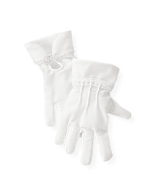 Pure White Ribbon Trim Glove at JanieandJack