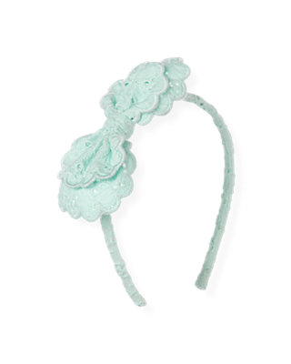 Starlight Blue Eyelet Bow Headband at JanieandJack