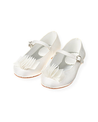 Jet Ivory Tulle Silk Shoe at JanieandJack