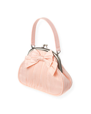 Rose Pink Bow Silk Purse at JanieandJack
