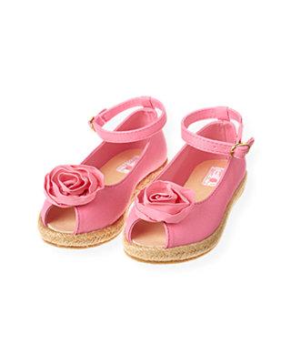 Candy Pink Rosette Espadrille Sandal at JanieandJack