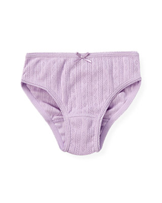 Light Purple Pointelle Panty at JanieandJack