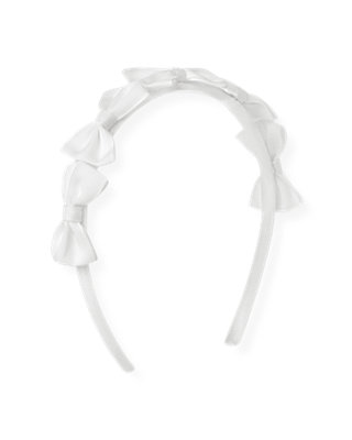 Pure White Grosgrain Ribbon Bow Headband at JanieandJack