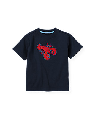 Boys Classic Navy Lobster Tee at JanieandJack