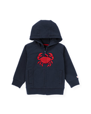 Classic Navy Crab Hoodie at JanieandJack
