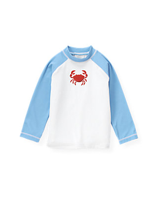 Pure White Crab Rash Guard at JanieandJack