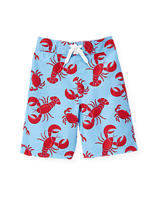Nantucket Blue Crab & Lobster Swim Trunk at JanieandJack