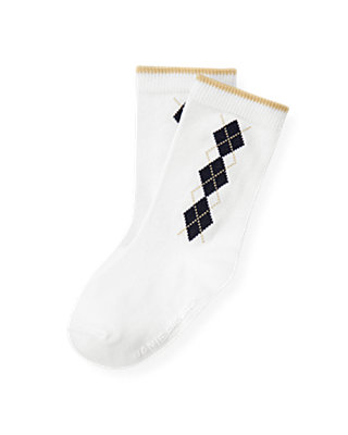 Boys Pure White Diamond Sock at JanieandJack