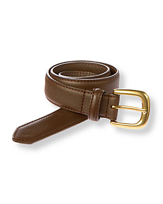 Boys Dark Brown Leather Belt at JanieandJack