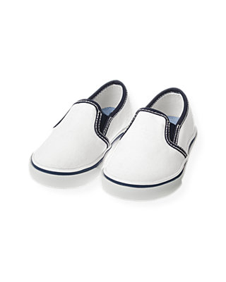 Pure White Slip-On Sneaker at JanieandJack