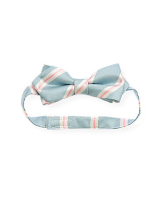 Boys Oxford Blue Stripe Bowtie at JanieandJack