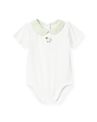 Pure White Sheep Collar Bodysuit at JanieandJack