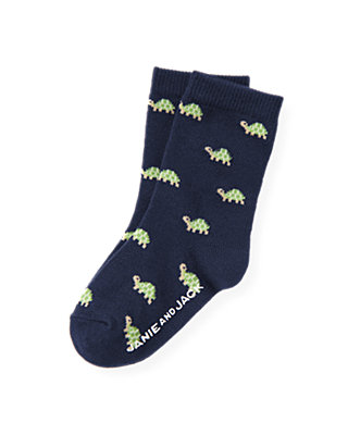 Boys Classic Navy Turtle Sock at JanieandJack