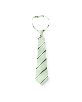 Boys Limeade Green Stripe Tie at JanieandJack
