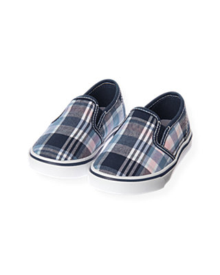 Blue Sail Plaid Plaid Slip-On Sneaker at JanieandJack